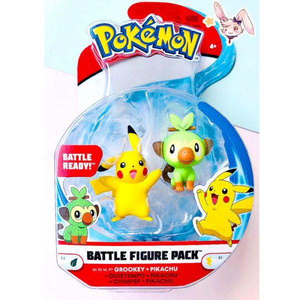 Pokemon Battle Mini-Figuren Set Pikachu & Chimpep
