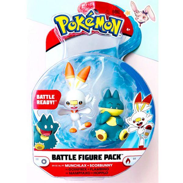 Pokemon Battle Mini-Figuren Set Hopplo & Mampflaxo